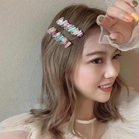Korean new fashion colorful hairpin creative stone spring clip cheap hairpin NHMD212476's discount tags