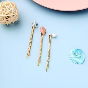 New fashion casual side shell starfish pearl cheap hairpin wholesale NHQD212496's discount tags