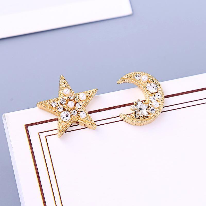 New Crystal Diamond Earrings s925 Sterling Silver Xingyue Asymmetric Stud Earrings NHQD212510