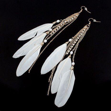 Boucles d'oreilles en plumes de gland en métal de nouvelle mode nihaojewelry en gros NHSC212712's discount tags