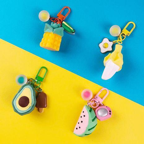 New cute fruit pendant keychain bag ornaments avocado watermelon pineapple banana airpods pendant NHJP211810's discount tags