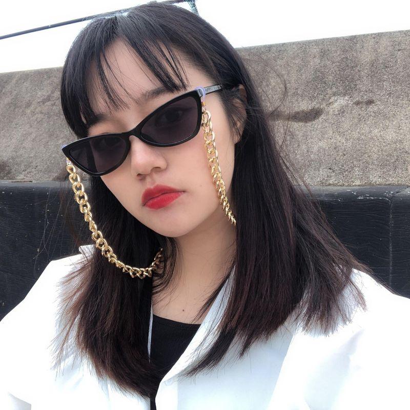 Fashion jewelry geometric accessories female simple punk chain frosty wind glasses chain nihaojewelry NHXR211845