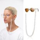 Fashion jewelry Ushaped geometric tassel glasses chain wild imitation pearl handmade fashion jewelry wholesale Nihaojewelry NHXR211848