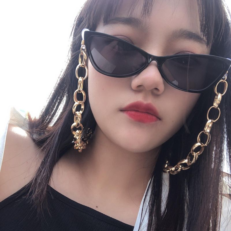 Fashion O-shaped chain geometric accessories simple oval handmade chain glasses chain wholesale Nihaojewelry NHXR211851