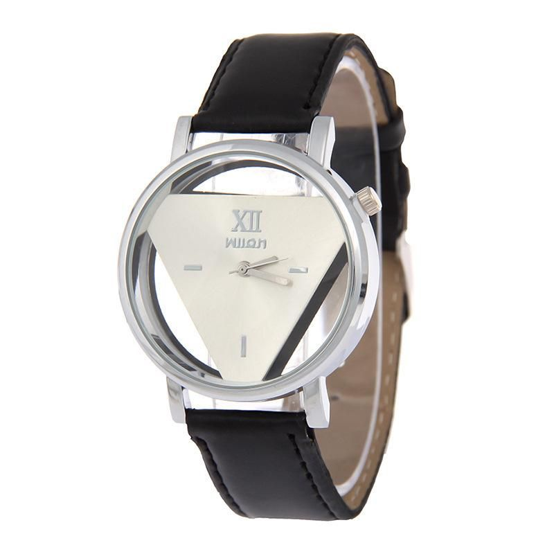 Korean double-sided hollow inverted triangle men and women watches fashion belt models couple quartz watches wholesale NHSS211912