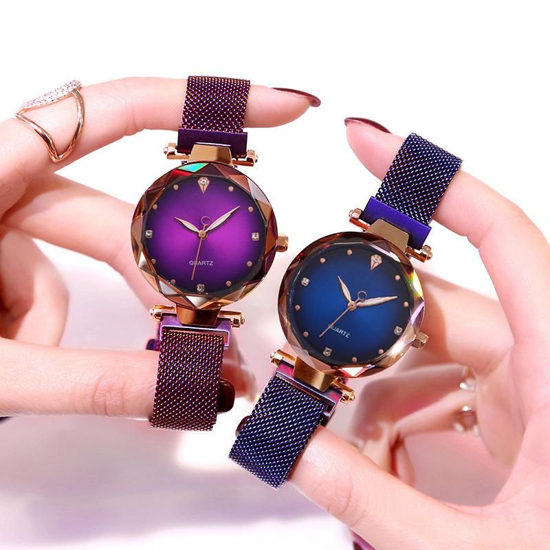 Starry sky female watch magnetite magnet Milan mesh belt watch explosion models diamond-set British ladies fashion watch NHSS211914