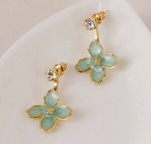 Exquisite earrings wholesale Korean fashion sweet OL fourleaf clover earrings NHSC212783