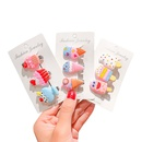New cute cream ice cream cheap hairpin set wholesale NHNA212565