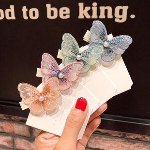 New fashion three-dimensional embroidery butterfly cheap hairpin wholesale NHNA212576's discount tags