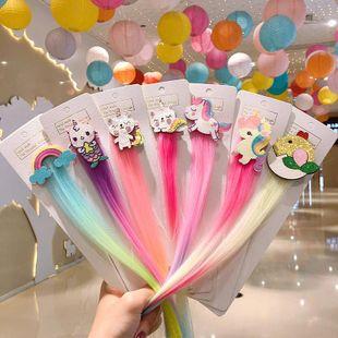 Coreana nueva peluca de dibujos animados para niños horquilla linda unicornio horquilla al por mayor NHNA212590's discount tags