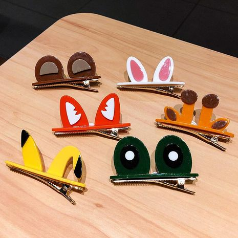 New cute cartoon frog pikachu cheap hairpin wholesale NHNA212607's discount tags