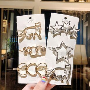 New fashion pentagram love heart shape metal hairpin wholesale NHNA212619's discount tags