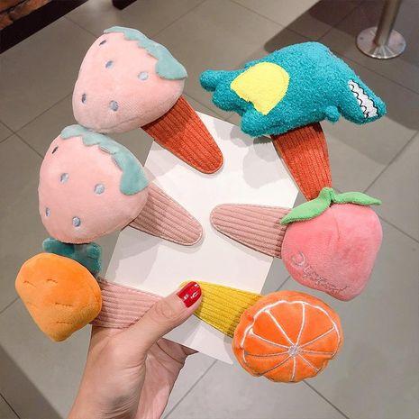 Nueva moda de dibujos animados muñeca linda horquilla fruta animal horquilla linda al por mayor NHNA212627's discount tags