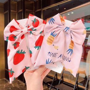 New fashion sweet girl big bow ribbon streamer cheap hairpin wholesale NHNA212631's discount tags