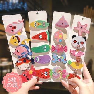 Korea super cute cute fruit cheap cartoon hairpin set wholesale NHNA212635's discount tags