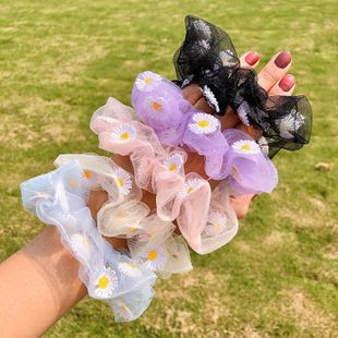 The new transparent mesh yarn Daisy sweet cheap scrunchies wholesale NHNA212648's discount tags