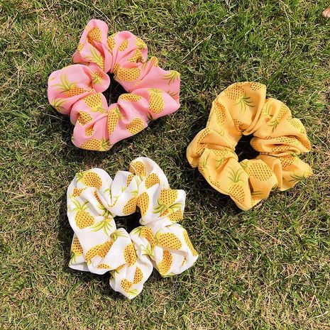 New fashion pineapple print cheap scrunchies wholesale NHNA212650's discount tags