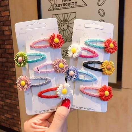 New fashion cute sweet daisy cheap hairpin wholesale NHNA212651's discount tags