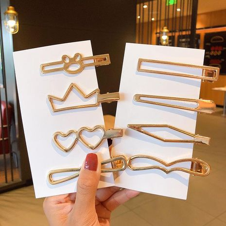 Metallic glossy hairpin creative geometric cheap hairpin wholesale NHNA212655's discount tags
