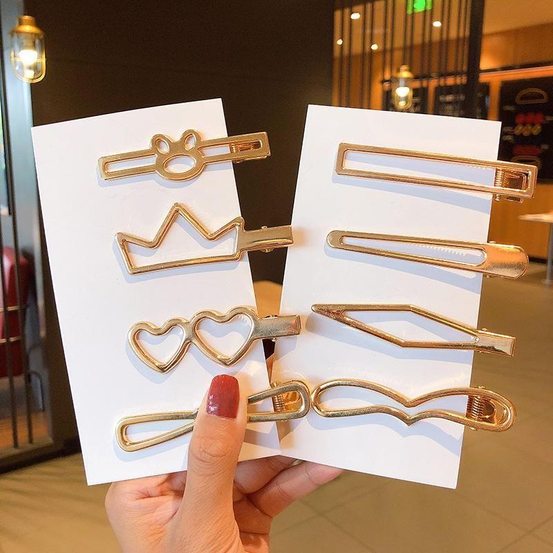 Metallic glossy hairpin creative geometric cheap hairpin wholesale NHNA212655