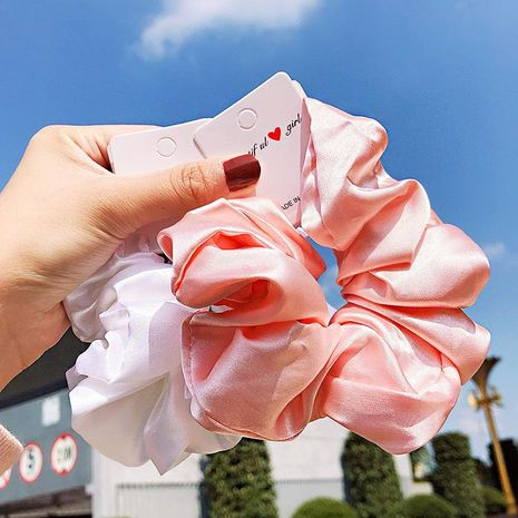 New solid color silk satin fashion simple cheap scrunchies wholesale NHNA212656's discount tags