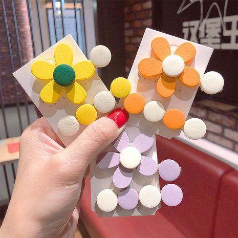 Nuevo conjunto de horquilla de flor de madera de color caramelo simple al por mayor NHNA212657's discount tags