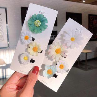 Nueva moda simple margarita horquilla conjunto al por mayor NHNA212660's discount tags