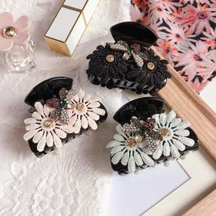 Korean new diamond bee small daisy simple flower catch clip wholesale NHHI212669's discount tags