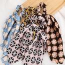 New fashion printing silky streamer cheap scrunchies wholesale NHJE212684