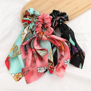 New fashion retro printed floating towel cheap scrunchies wholesale NHJE212686's discount tags