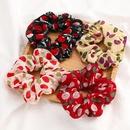 New fashion cherry printed fabric cheap scrunchies wholesale NHJE212688