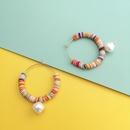 New fashion bohemian drop pearl earrings handmade rice beads large circle earrings wholesale NHJJ212727