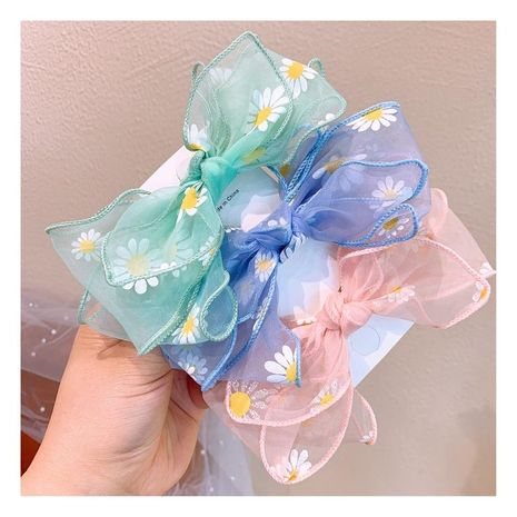Spring Korean new small daisy flowers double wild bow hairpin wholesale NHHD212731's discount tags