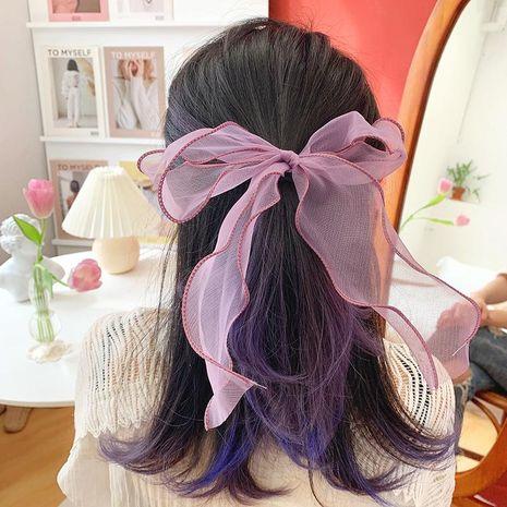 Coréen nouvelle mode fil qualité ruban grand bowknot doux bon marché chouchous en gros NHOF212737's discount tags