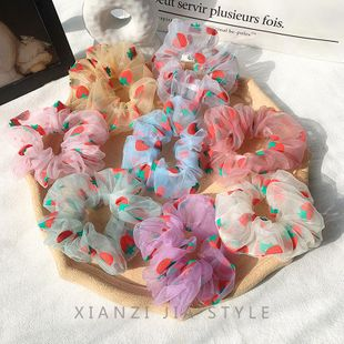 New fashion strawberry retro sweet cheap scrunchies wholesale NHOF212742's discount tags
