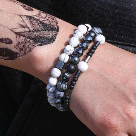 Nouvelle mode pierre naturelle bracelet élastique simple ensemble en gros NHZU212772's discount tags