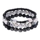 New fashion natural stone simple elastic bracelet set wholesale NHZU212772