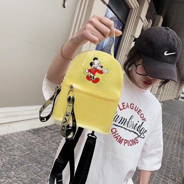 Summer new transparent jelly bag PVC backpack messenger backpack plastic cartoon children bag NHGA212815