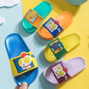 Children's slippers summer new cute cartoon monster children's sandals and slippers NHPI212875's discount tags