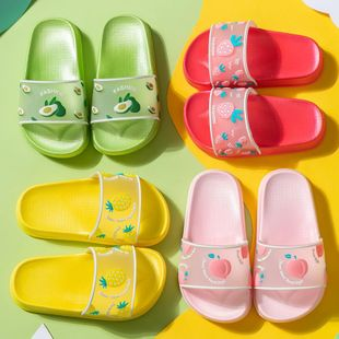 New cute cartoon transparent fruit children's sandals and slippers non-slip children's slippers NHPI212877's discount tags