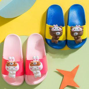 Children's slippers summer new cute cartoon doll head bear rabbit children's sandals and slippers NHPI212879's discount tags