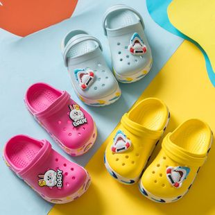 Children's hole shoes summer new cute cartoon beach sandals and slippers NHPI212883's discount tags