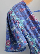 Spring new fashion loose casual irregular printed dress wholesale NHAM212931