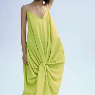 Spring simple knotted strap dress wholesale NHAM212968's discount tags