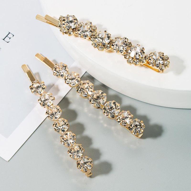 Korean new simple alloy diamond cheap hairpin set wholesale NHLN212996