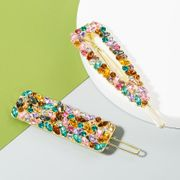 Korean new fashion alloy rhinestone color cheap hairpin wholesale NHLN212998