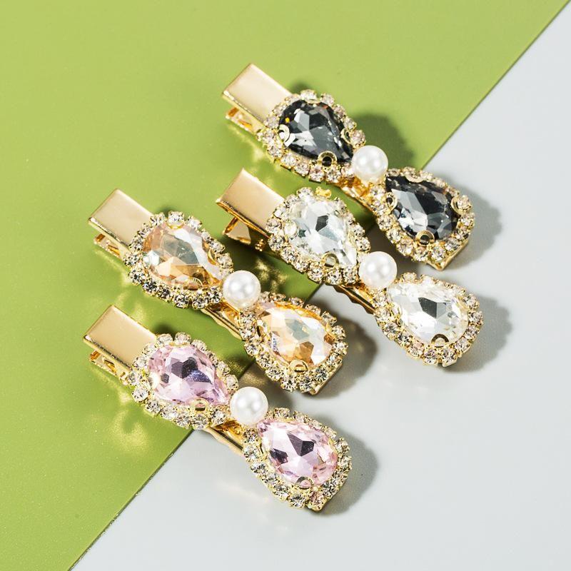 Korean new fashion and elegant hair clip multi-layer bowknot pearl diamond super flash fashion hair clip NHLN213001