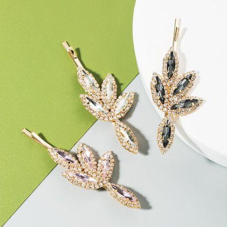 Nueva horquilla simple de moda nuevas hojas de diamante lleno de horquilla brillante al por mayor NHLN213003's discount tags
