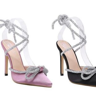 New fashion rhinestone decoration pointed high heels wholesale NHEH213025's discount tags