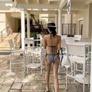 New fashion sexy split bikini black strap swimsuit NHHL213075